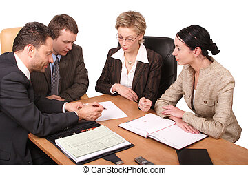 business meeting - Group of people working at the desk