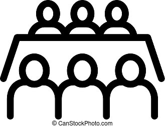 Business Meeting Icon Vector Outline Illustration