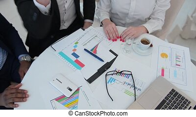 Business meeting in restaurant - Picture of business people...