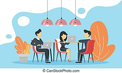 Business meeting in the conference room concept.