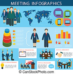 Business meeting infographics - Business meeting...