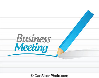business meeting message sign illustration design