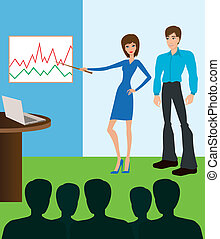 Business meeting. Presentation