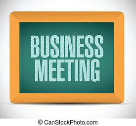 business meeting sign on a board.