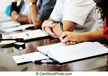 business meeting - business beople on meeting conference...