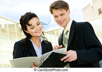 Business meeting - Portrait of attractive businesspeople...