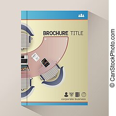 Business meeting top view manager office, cover template