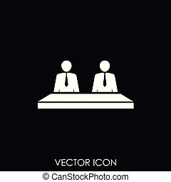 Business meeting vector icon