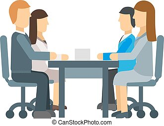 Business meeting vector illustration.