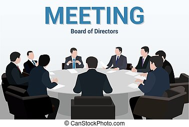Business meeting.A group of businessmen is negotiating for a round table