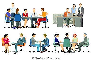Business meetings and advice, team meetings.eps