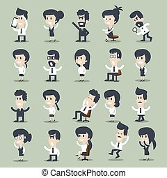 business men and women character ,  vector