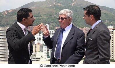 Business Men Disagree  Intimidate