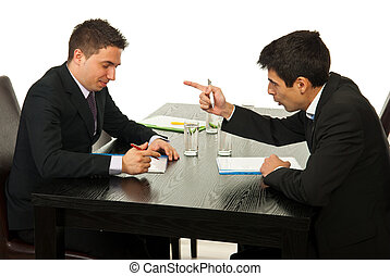 Business men discussion at meeting