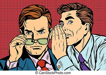 Business men gossiping