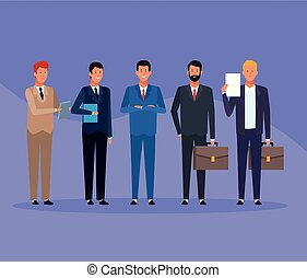 business men group
