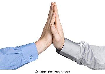 business men hands