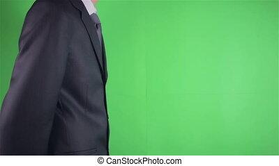 Business men idea bulb on chroma key or Green screen
