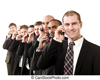 Business men on the phone