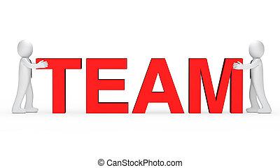 business men red team word