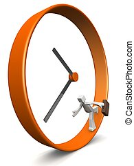 Business men rush hour concept - Businessman carrying...