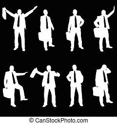 business men silhouette vector
