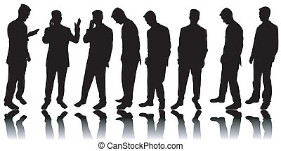 Business men silhouettes - Variety of business men...