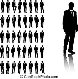 Business Men - Set of business men silhouettes. Available in...