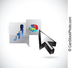 business message bubble illustration design