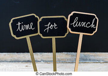 Business message TIME FOR LUNCH