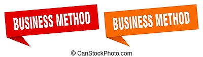 business method banner sign. business method speech bubble ...