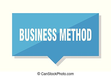 business method price tag - business method blue square...