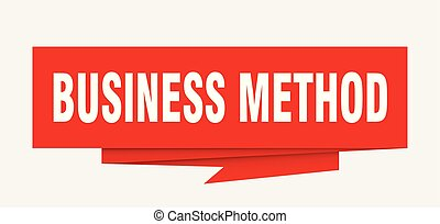 business method sign. business method paper origami speech...