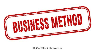 business method stamp. business method square grunge red...