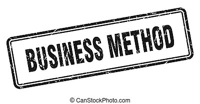 business method stamp. square grunge sign on white ...