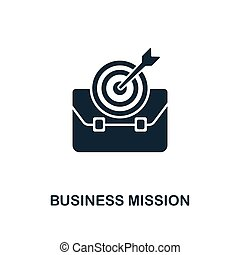 Business Mission icon. Creative element design from business strategy icons collection. Pixel perfect Business Mission icon for web design, apps, software, print usage