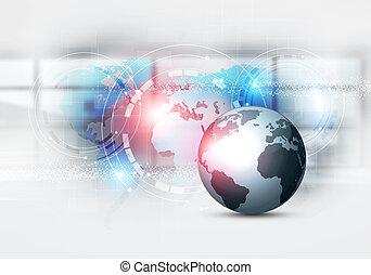 business mixed media web background