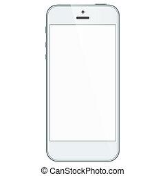 business, mobile, isolé, téléphone, fond, blanc
