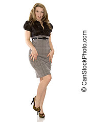 business model - brunette woman wearing business outfit on ...