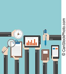 Business Modern flat illustration