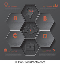 business, moderne, conception, gabarit, infographics, ton