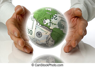 business - money makes the world go around concept