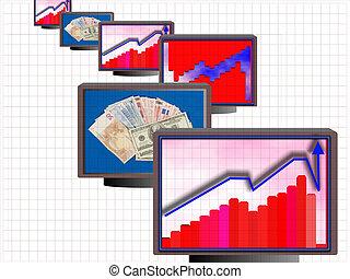 Business monitors 01 - Business chart monitors