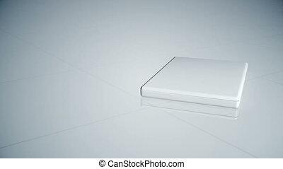 Business montage on a sliding lapto