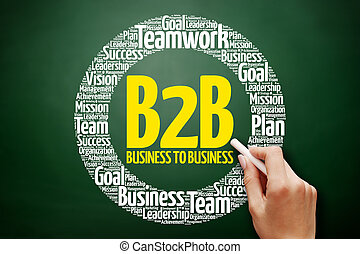 business), mot, b2b, nuage, (business