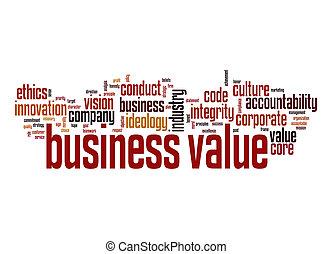 business, mot, valeur, nuage