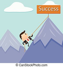 Business Mountain Success
