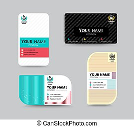 Business name card design for corporation. card template. ...