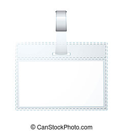 Business name tag - Clear plastic business name tag with...