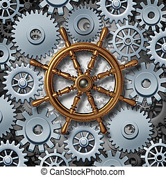 Business Navigation - Business navigation concept as a...